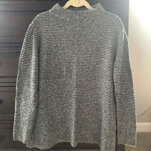 Old Navy Black and Gray Mock Neck Sweater, L